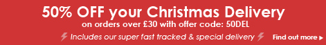 50% OFF your Christmas Delivery on orders over £30