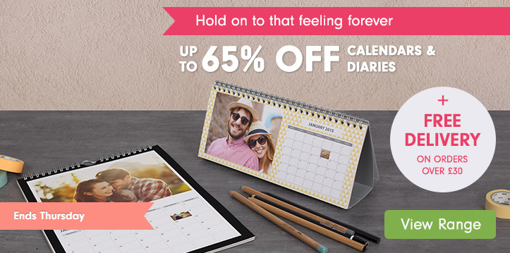 up to 65% off Calendars & Diaries