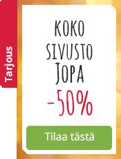Koko sivusto Jopa -50%
