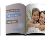 Livre Photo A4 Citation Papa ouvert