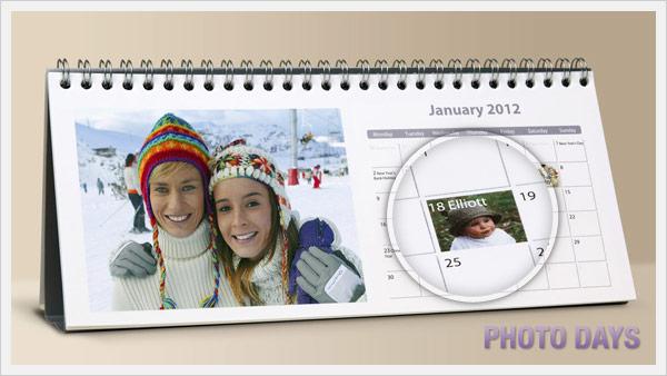 Photo days on Desk Calendars