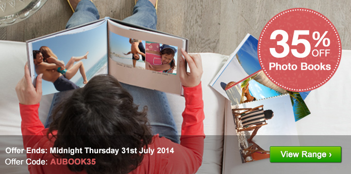 35% off Photo Books