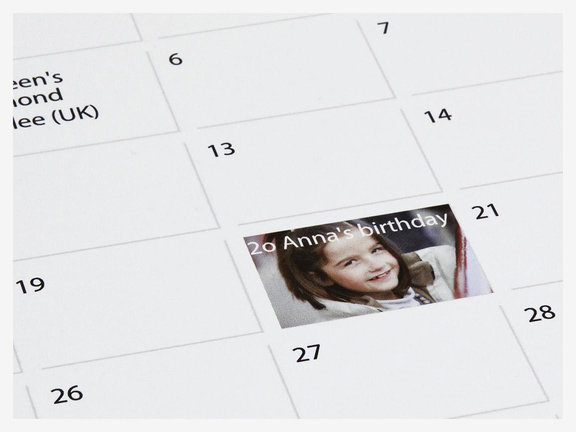 Make Your Own Calendars - Personalised Photo Wall Calendars - PhotoBox