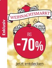 Weihnachtsmarkt Bis zu 70% Rabatt