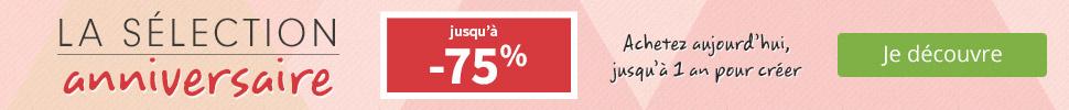 Jusqu'à -75%