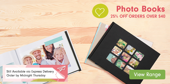 Photo Books – 25% OFF orders over $40