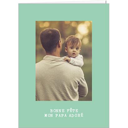 Carte Vert Clair pour la fête des papas