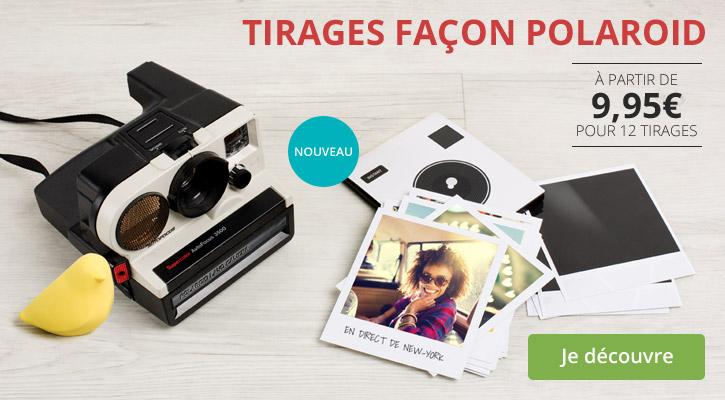 Tirages façon Polaroid