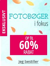 Fotobøger i fokus Op til 60% rabat