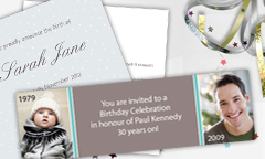 Personalised Party Invitation Cards