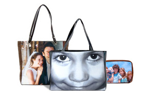 Choose from our range of bags to personalise with your photo