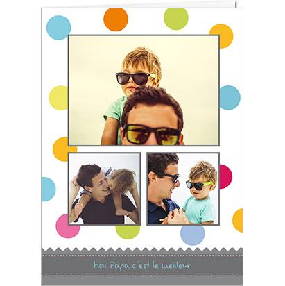 Carte personnalisable sobre Fête des Pères