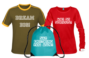 Create your own style with our extensive photo fashion range of bags, hats, t-shirts, aprons and more