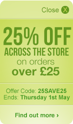 25% OFF across the store - On orders over £25