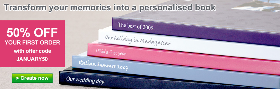 Transform your memories into a personalised book