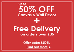 Up to 50% OFF Wall Decor + Free Christmas Delivery on orders over £35