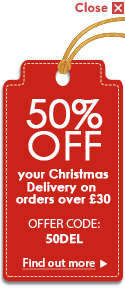 50% OFF your Christmas Delivery
