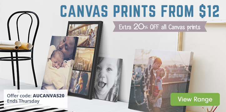 Extra 20% OFF all Canvas Prints