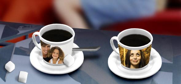 koffie kop met foto