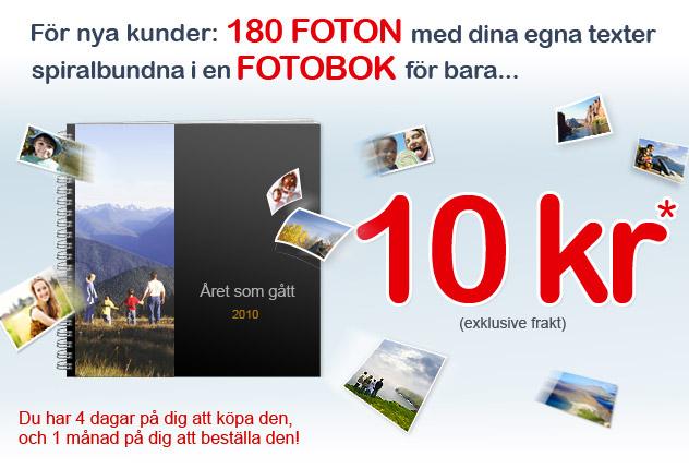 180 Foton i fotobok för 10 kr