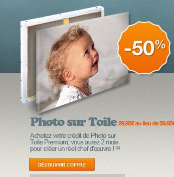 PHOTO SUR TOILE -50%