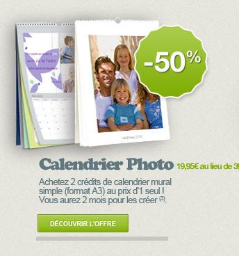 CALENDRIER PHOTO -50%