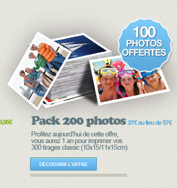 PACK 200 PHOTOS 100 PHOTOS OFFERTES